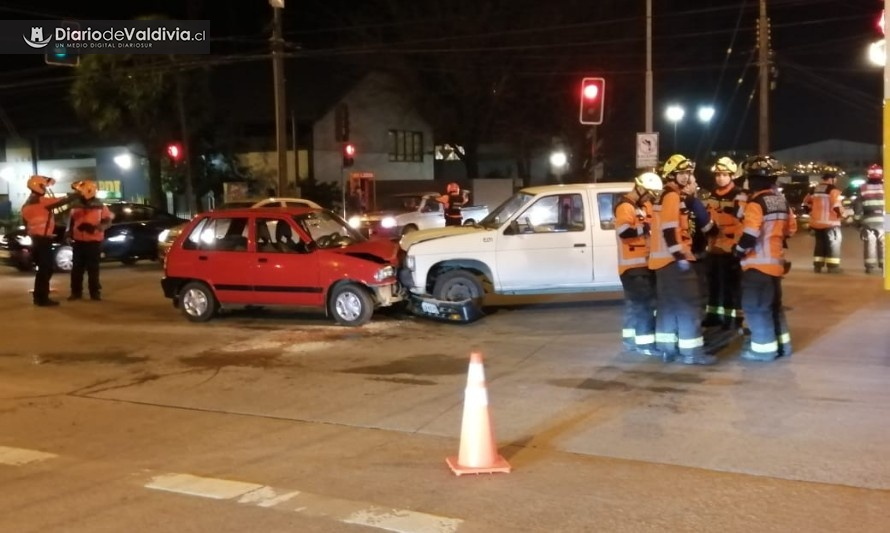 Accidente en calle Picarte con General Mackenna en Valdivia